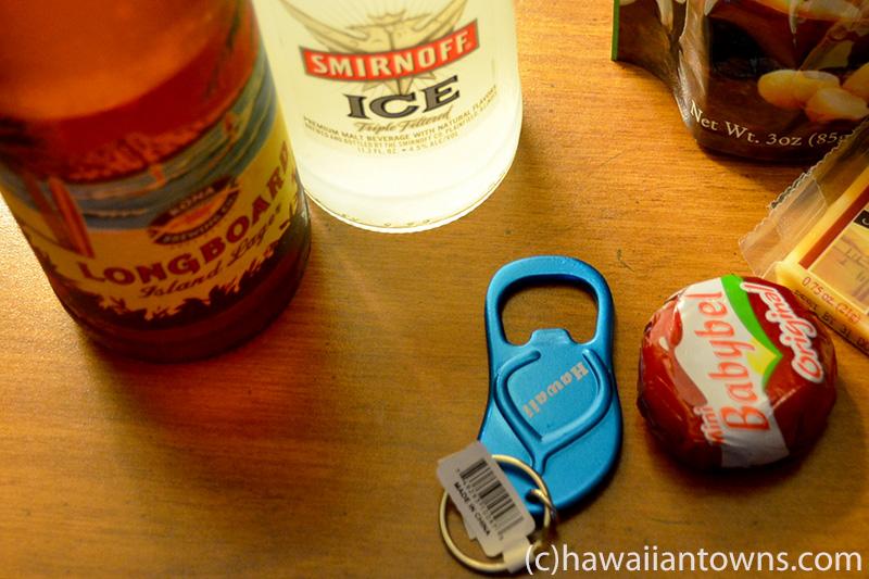 ハワイのビールと栓抜き