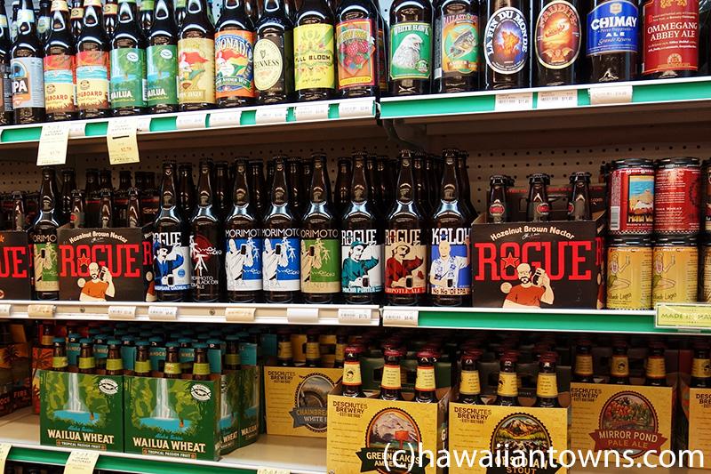 ハワイのビール売り場
