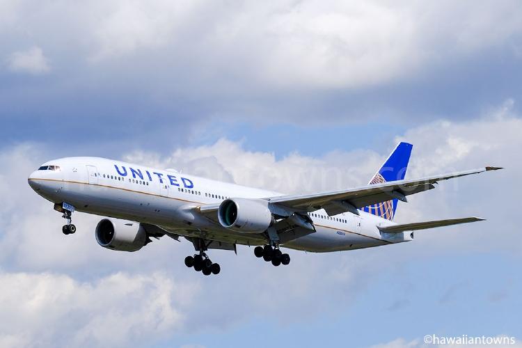 ユナイテッド航空のB777-200ER