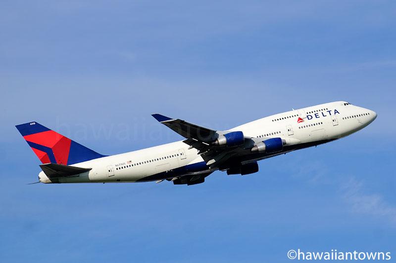 デルタ航空のB747