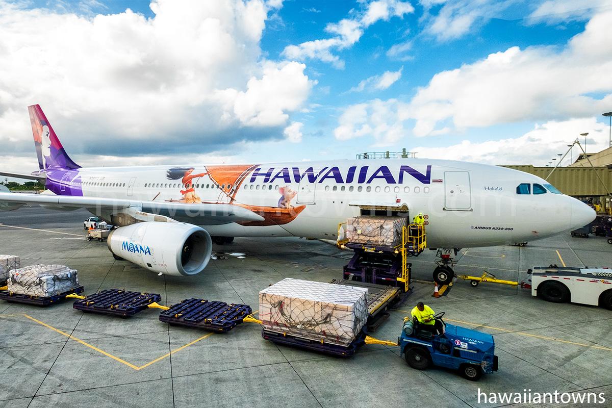 ハワイアン航空のA332 モアナと伝説の海 特別塗装機