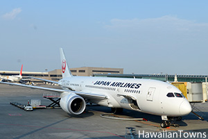 JALのB787型機