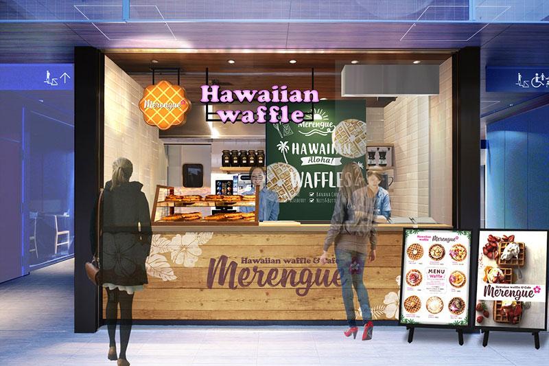 ハワイアン ワッフル メレンゲ 上野の森さくらテラス店
