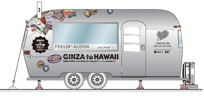 """""""オリジナルステッカー「GINZA to HAWAII From JALPAK」""""ラッピング"""
