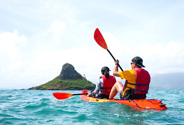 カヤック・ツアー(c) クアロア・ランチ・ハワイ