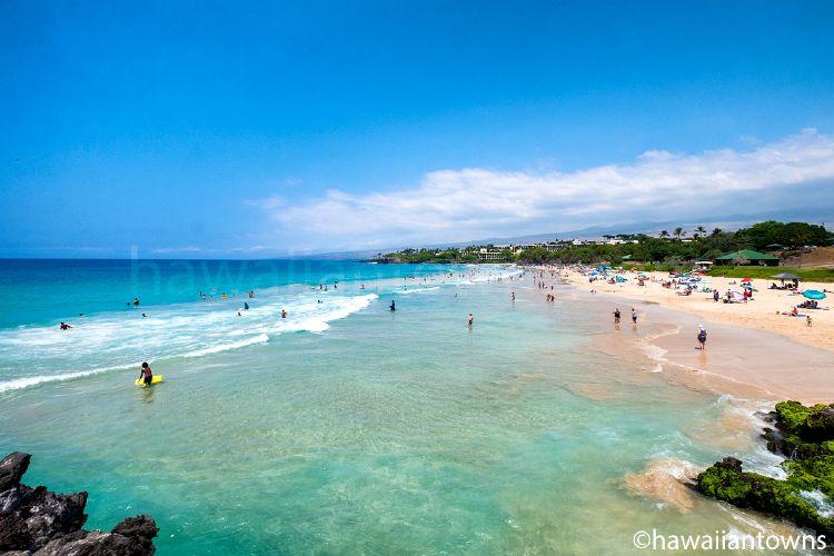 ハワイ島ハプナビーチ(通常時の写真)