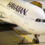成田に駐機中のハワイアン航空 A330-200型機