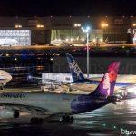 ハワイアン航空とANAの飛行機
