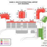 ホノルル空港の新ゲート番号地図