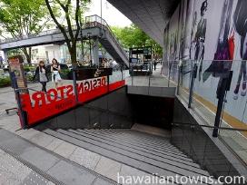 カフェカイラへは表参道から地下へ下りる階段が便利